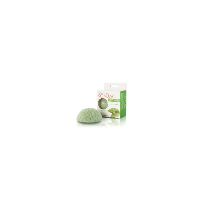 Губка Konjac с зелёным чаем, зелёная