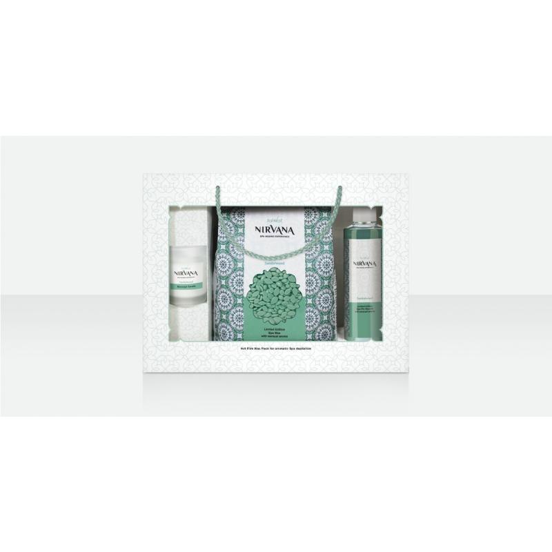 Подарочный набор для ароматической СПА депиляции, Сандал