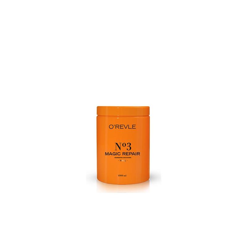 O'REVLE MAGIC REPAIR No3, Niisutav Mask, nõrkadele/kahjustatud juustele, 1000ml