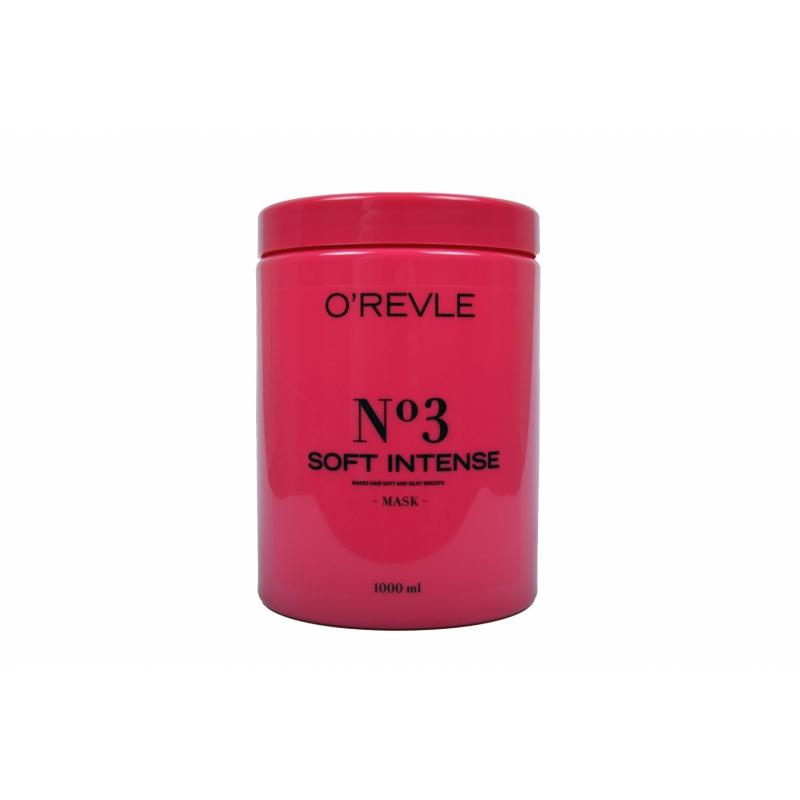 O'REVLE SOFT INTENSE No3, Regenereeriv Mask, kahjustatud juustele, 1000ml