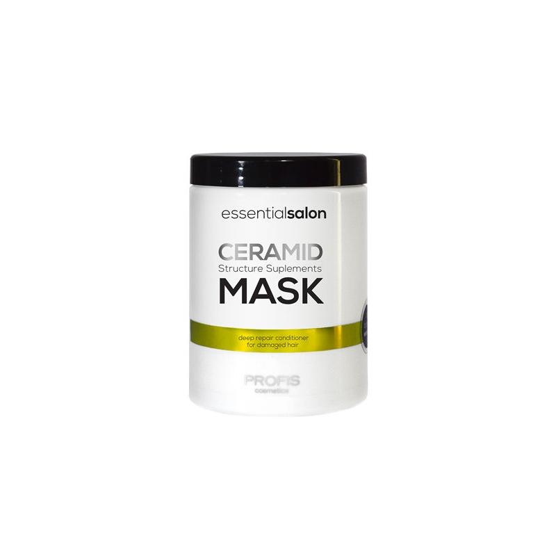PROFIS ESSENTIAL SALON CERAMID MASK Tugevdav mask keramiididega, kahjustatud juustele, 1000ml