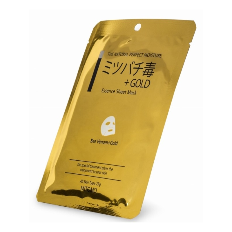 MITOMO  маска для лица Bee Venom & Gold Essence  (25г)