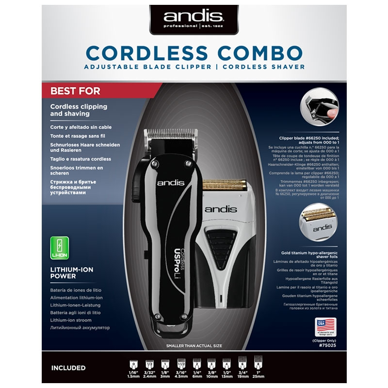 ANDIS CORDLESS COMBO (lõikusmasin+pardel)