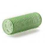 Бигуди на липучке, зеленые 6 шт. 21mm