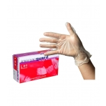 Semperguard Vinyl powdered gloves, L size, 100 pcs