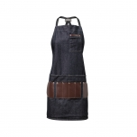 DENIM APRON CAPE
