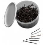 Professional hairgrips, 51 mm, 330 pcs, SILVER