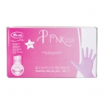 Ro.ial pink nitrile powder-free gloves, 100 pcs, M SIZE