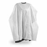 Disposable customer capes, white, 50 pcs